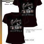 T-shirt Free speed col-V col-O F-AV