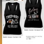 T-shirt coconut FreeSpeed et Free Rod F-AV